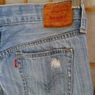 Vintage LEVIS 501 distressed destroyed 3 Button Fly cropped medium Wash Jeans -Size 27 -5 Pockets