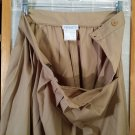 FILENES dress Skirt - Vintage Tan Pleated - Size 10