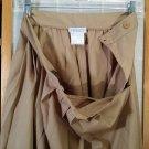 FILENES dress Skirt - Vintage Tan Pleated - Size 10