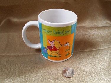 "Winnie the Pooh Mug ""Happy Being Me"" Coffee Tea Cup Disney Ceramic Retired"