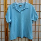 LL BEAN Aqua Blue POLO Shirt womens Size - xL Reg