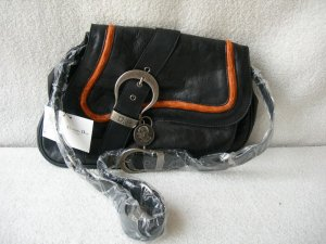 Dior Gaucho Large Double Saddle Real Leather Bag Black