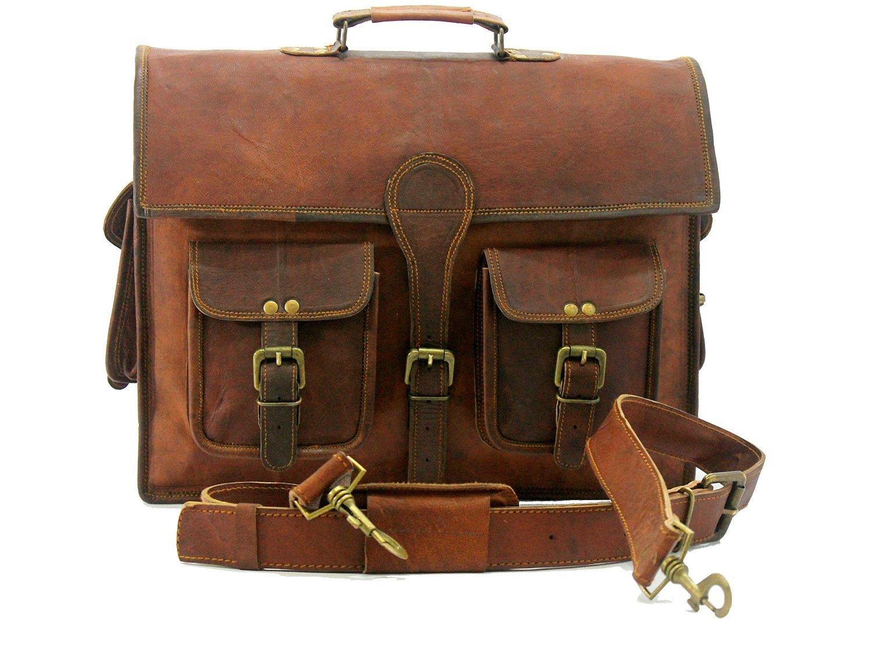 Genuine Leather Laptop Briefcase messenger satchel bag