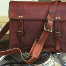 Genuine Men's Auth Real Leather Messenger Laptop Briefcase Satchel Mens Bag