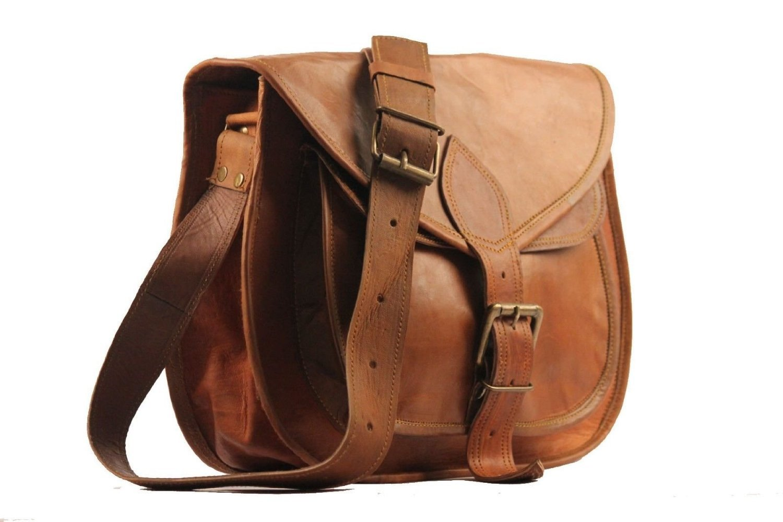 "11"" X 9"" Brown ,Genuine Leather Women's Bag /Handbag / Tote/purse/ Shopping Bag"