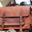 Genuine Leather Messenger Satchel Camera Bag Breifcase