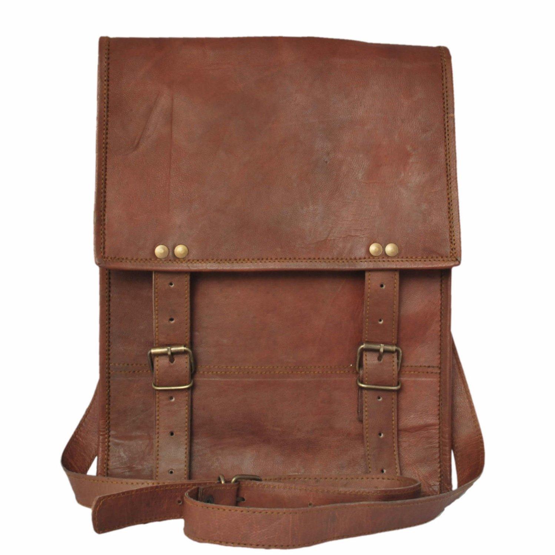 Leather Satchel vertical Bag