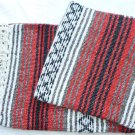 Southwestern Mexican baja blanket yoga blanket pilates blanket Red outback
