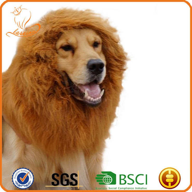 Exclusive Pet Dog Cat Lion Wig Lionhead Set Dog Collar