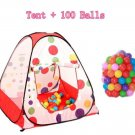 Spot Child Tent+100 Ocean Balls Kids Game House 5.5cm Wave Balls Baby Play Tent