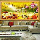3Size Fengshui 9Fishes 5D Embroidered Diamond Crystal Round Diamond DIY Painting