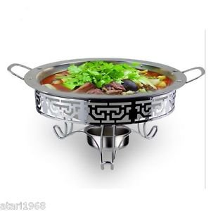 Outdoor Camping Portable Stainless Steel Broadside Ears Dry Pan Alcohol Stove