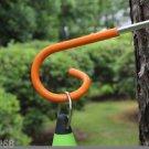 Survival Outdoor Camping Strong Metal S Hook Screw Hook Fishing Lamp Hanger 035