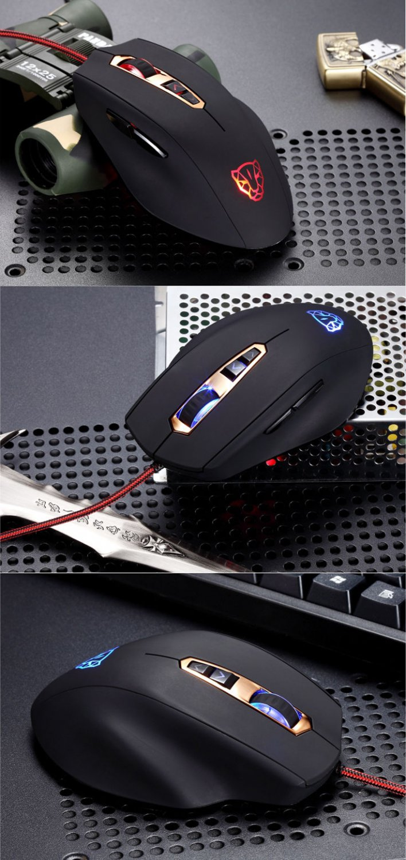 Motospeed Gaming Mouse V7 Ghost Leopard Mice Range 500-5000DPI PC Laptop Gamer