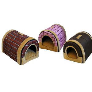 New Arc Kennel with Handle Foldable Dual Removable Portable Pet Dog Cat House