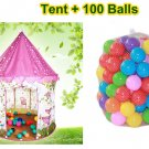 New TEEPEE Tent Garden Play House Baby Child Kids Tent  + 100 Marine Balls Gift
