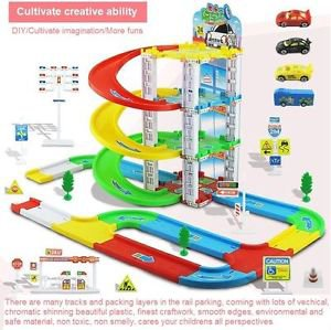 NEW DIY Child Kid Children Puzzle Toy 3 Tracks Car Park Suit Gift