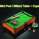 Mini Pool Billiard Table+Cups Fun Drinking Shots Tabletop Set Game Indoor Toys