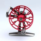 Ultra-Light Aluminum Alloy Metal Wheel Raft Fishing Tackle Front Drag Round Reel - Red Color
