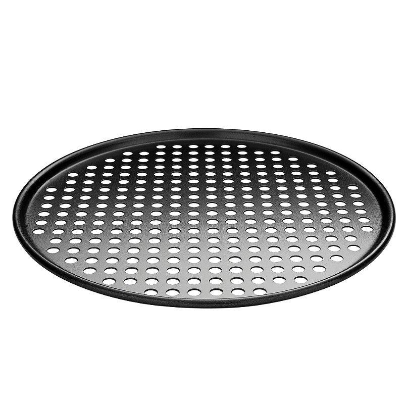 """12"""" Round Pizza Crisper Seamless Rim Non-stick Mesh Hole Pizza Screen Baking Tray"""