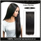 COLOR #1 Five Card Clip-on Hairpiece 120g High Temperature Wire Synthetic Straight Hair Extension