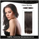 COLOR #2 Five Card Clip-on Hairpiece 120g High Temperature Wire Synthetic Straight Hair Extension