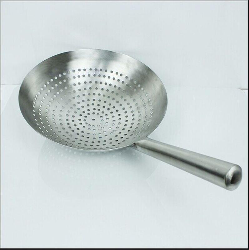 SIZE 30CM Stainless Steel Deep Basket Food Strainer Colander