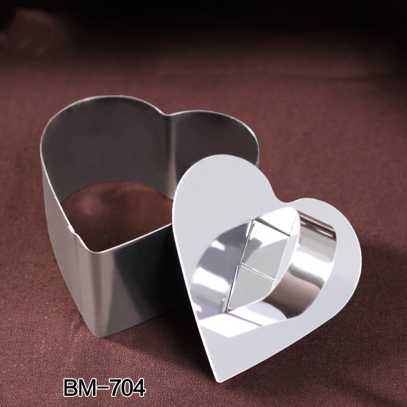 Heart Stainless Steel Mousse Cake Ring Cookie Cutter Biscuit Mold Cake Mold
