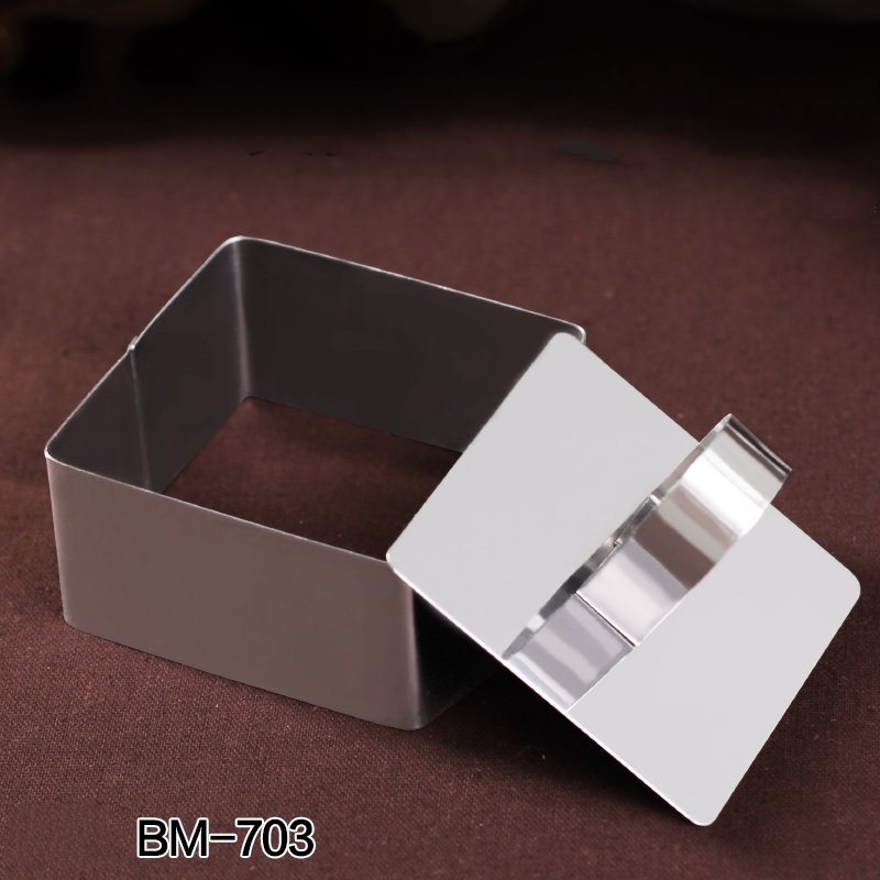 Square Stainless Steel Mousse Cake Ring Cookie Cutter Biscuit Mold Cake Mold