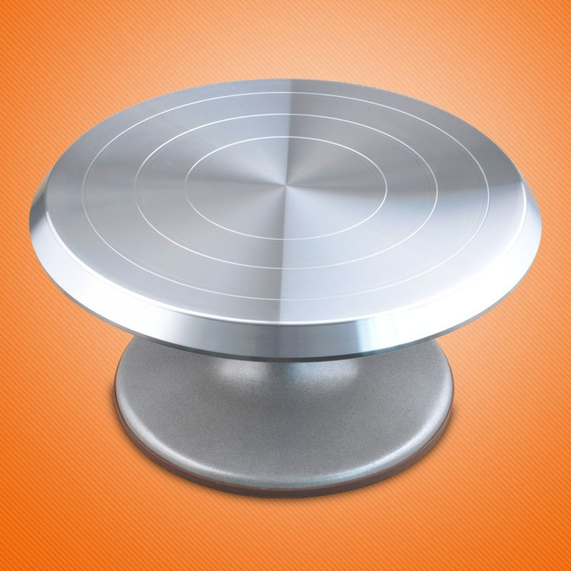 Color Silver Professional Cake Decorating Aluminum Alloy Turntable