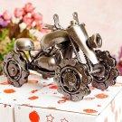 Color Black Iron Chain Snowmobile Model Vintage Car
