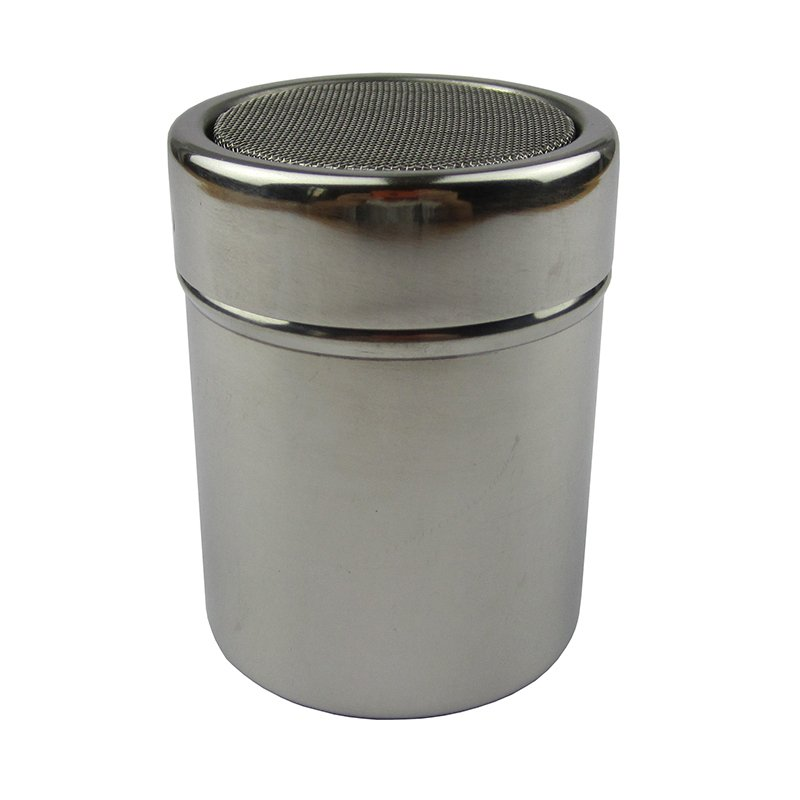 304 Stainless Steel Bottle for Powdered Sugar Pepper Cocoa Coffee Dusting Powder Device with Lid