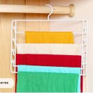 COLOR WHITE Metal 4-Tier Swing-Arm Pants Hangers Towel Holder Removable Rack