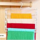 COLOR WHITE Metal 4-Tier Swing-Arm Pants Hangers Towel Holder Removable Rack
