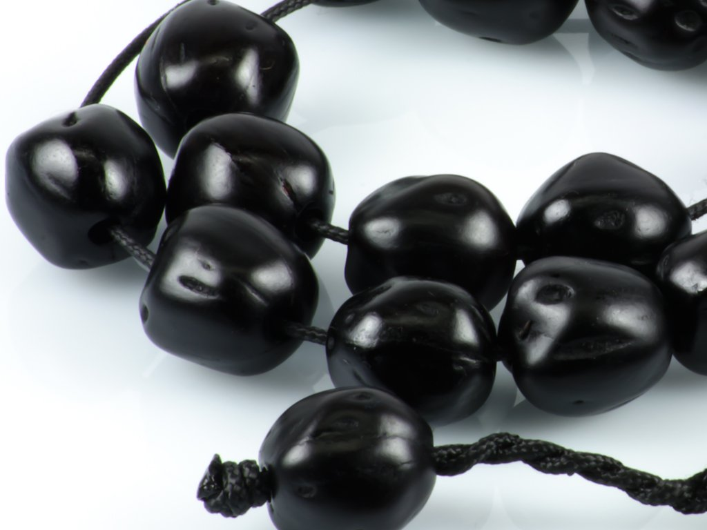 Black Nutmeg Seeds Greek Worry Beads Komboloi