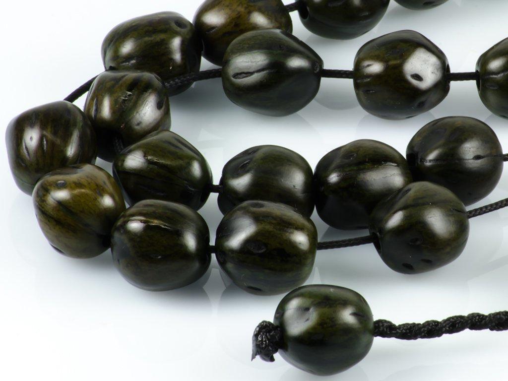 Dark Green Nutmeg Seeds Greek Worry Beads Komboloi