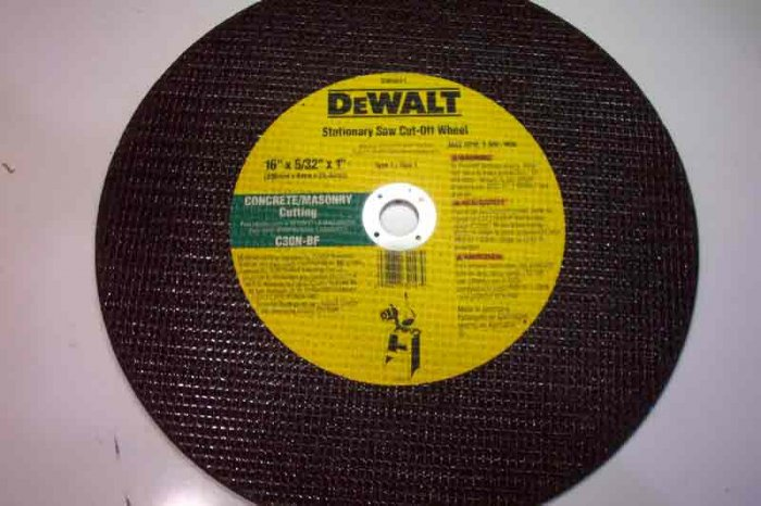 DW8011    Masonry Cut-Off Wheel
