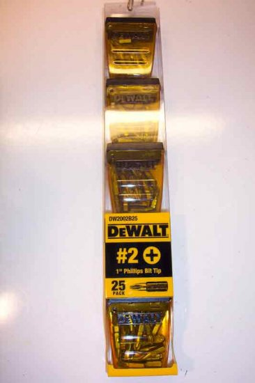 DW2002B25 25pk. DeWalt 2 Phillips Screw Bits 1""