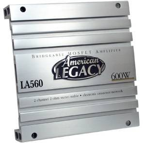 Cds-Legacy 2-Channel 600 Watts Max Bridgeable Amplifier-LA560