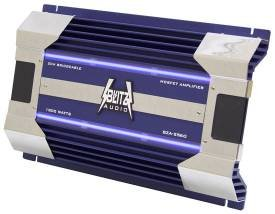 Cds-Blitz Audio 2-Channel 1800 Watts Max Amplifier with Blue Neon Light-BZA2560