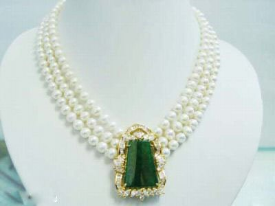 Remarkably Beautiful Pearl & Jade Necklace