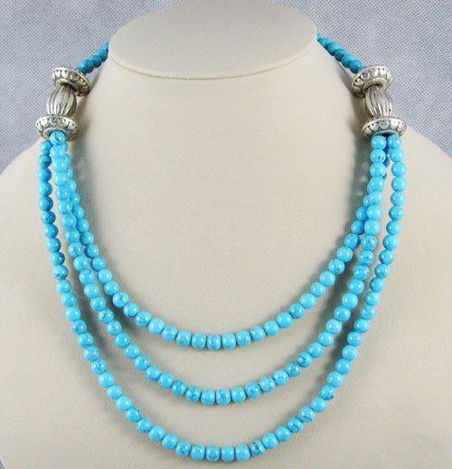 Marvelous Tibetan Silver Turquoise Necklace