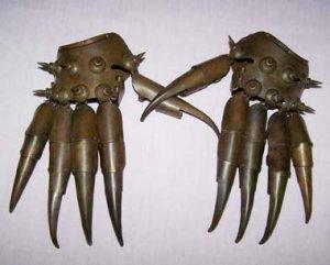 Old Tibetan Bronze Paw pair