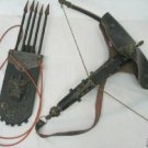 Costful old Tibetan leather bow and arrow