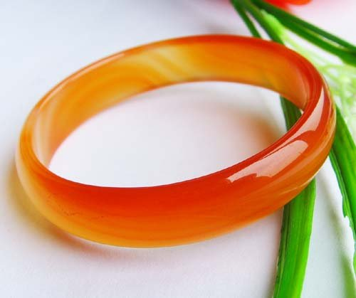 The Unique Style Expectant Red Jade Bangle