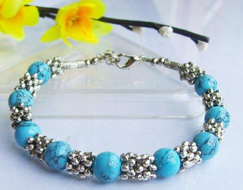 Wonderful Tibetan Silver Turquoise Bracelet