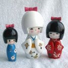 Beautiful Japanes 3 girls dolls