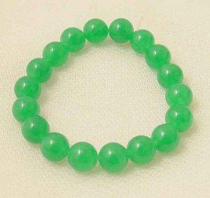 Beautiful green jade beads bracelet