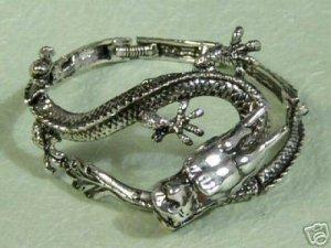 Rare tibet silver dragon bracelet