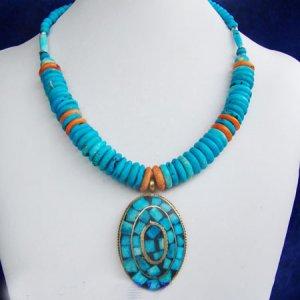 Stunning turquoise pendant necklace